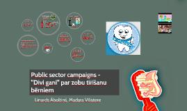 Public sector campaigns -