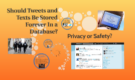 Should Tweets and Texts Be Stored Forever In a Database?