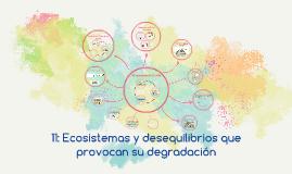 tema 11: Ecosistemas y desequilibrios que provocan su degradación