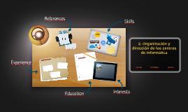 2. Organización y dirección de los centros de informática