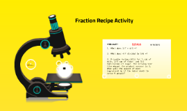 Fraction Recipe Activity