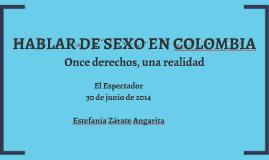 HABLAR DE SEXO EN COLOMBIA
