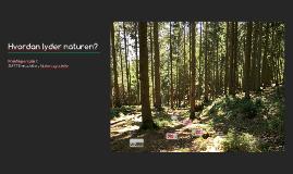 Hvordan lyder naturen? praktik 1 opgave, natur og udeliv