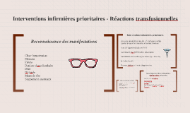 Interventions infirmières prioritaires - Réactions transfusi