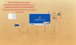 GESTIÓN 2016-2 LIDER TRABAJOS DE GRADO
