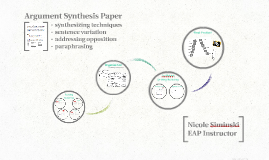 Argument Synthesis Paper