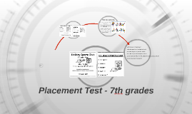 Placement Test - 7th grades 2017