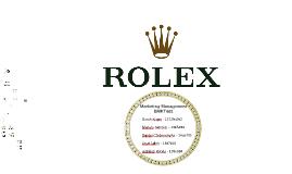 Rolex Presentation