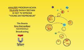 ANALISIS PROGRAM ACARA TELEVISI SARAH SECHAN DI NET TV