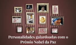 Personalidades galardoadas pelo Prémio Nobel da Paz