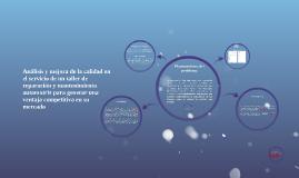 Copy of Análisis y mejora de la calidad en el servicio de un taller