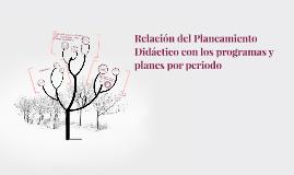 Copy of Relación del Planeamiento Didáctico con los programas y plan