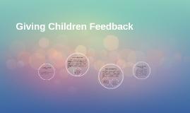 Giving Children Feedback