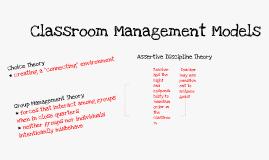 Copy of Classroom Management Models