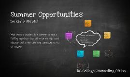 Copy of Summer Opportunities