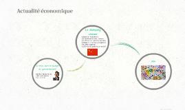 Actualité économique