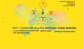 Extra 3 Webaula - Morfologia - Ênfase em Classes Invariáveis