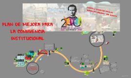 PLAN DE MEJORA PARA LA CONVICENCIA INSTITUCIONAL