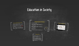 Education in Society