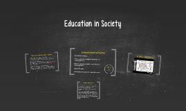 Education in Society