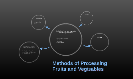 Methods of Processing Fruits and Vegteables