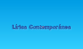 Lirica Contemporanea