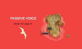 ELI-102 Grammar WEEK 10 PASSIVE VOICE