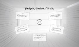 Analyzing Academic Writing