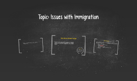 Topic: Issues with Immigration