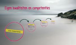 Eigen kwaliteiten en competenties