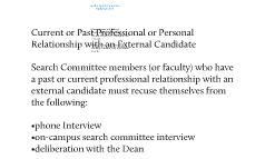 Faculty Search Committee Guidelines