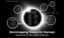 Bootstrapping Finance for Startups