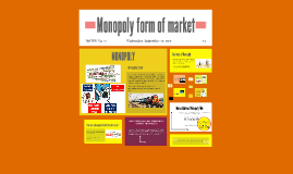 Monopoly form of market