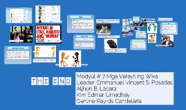 Copy of Mga Varayti ng Wika