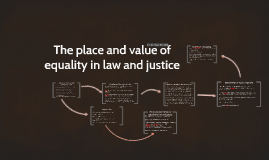 Dec 2016 The place and value of equality in law and justice