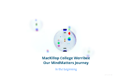Our MindMatters Journey MacKillop College Werribee