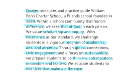 Penn Charter Mission Statement