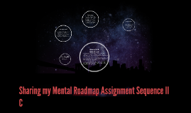 Sharing my Mental Roadmap Assignment Sequence II C