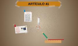 ARTICÚLO 41