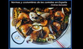 Tradiciones de Comida en Espana