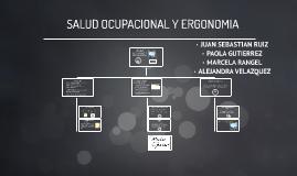 SALUD OCUPACIONAL Y ERGONOMIA