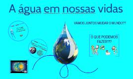 A importância da água em nossas vidas!