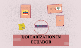 DOLLARIZATION IN ECUADOR