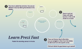 Learn how to use prezi fast