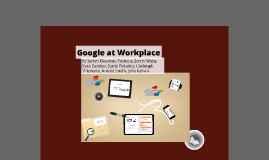 Google at Workplace - New Associate Project