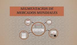 SEGMENTACION DE MERCADOS MUNDIALES