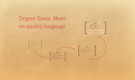Degree Essay. More on quality language
