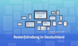 Rasterfahndung in Deutschland