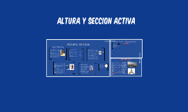 Copy of Altura y seccion activa