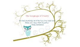 The Language of Poetry 1
